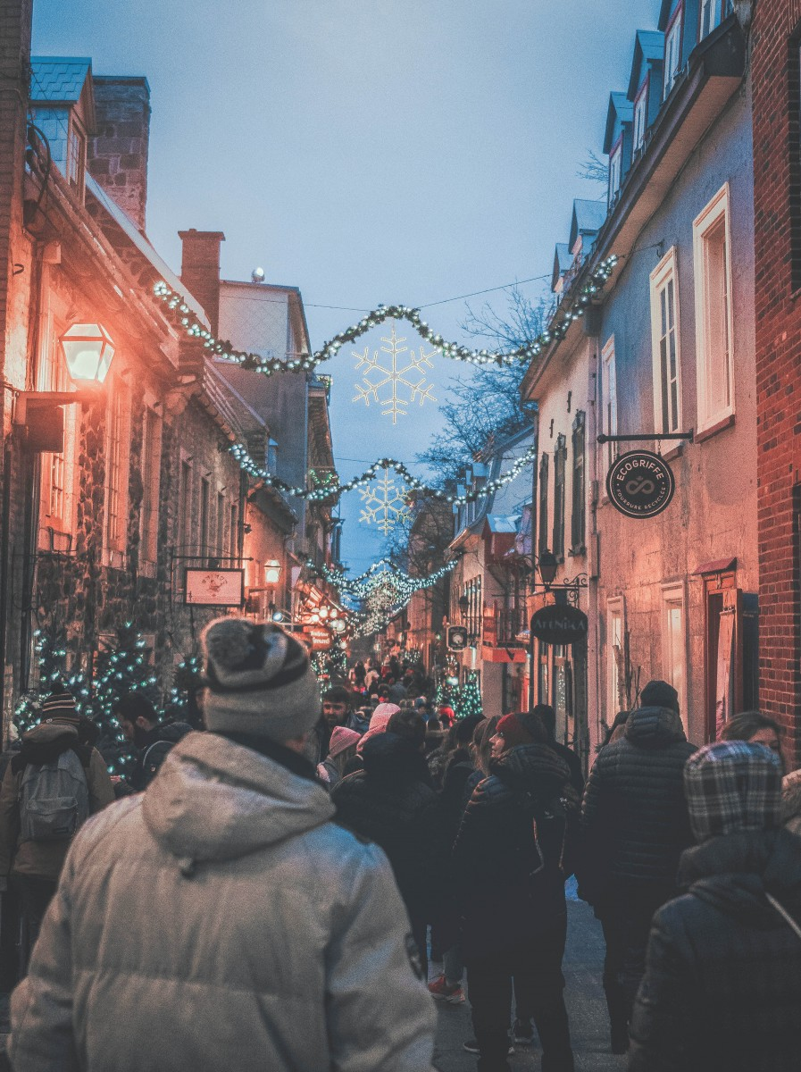 Quebec City in the evening