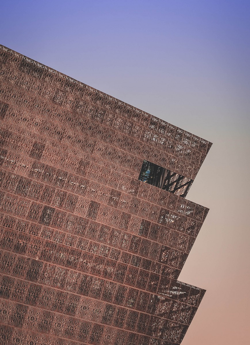 Smithsonian African American History Museum at sunrise