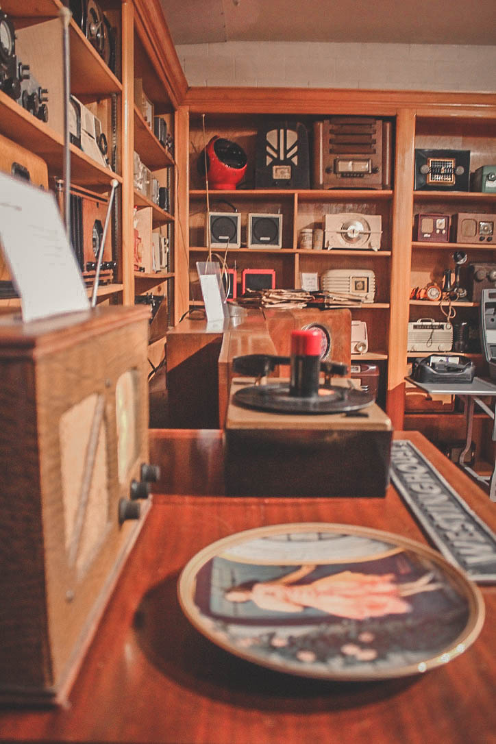 Things to do in East Texas: broadcast museum shelves and shelves of radios