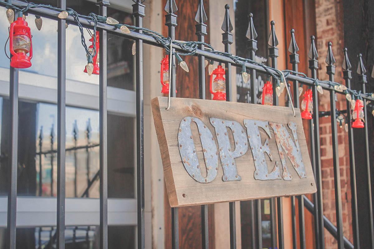 open sign in Little Rock
