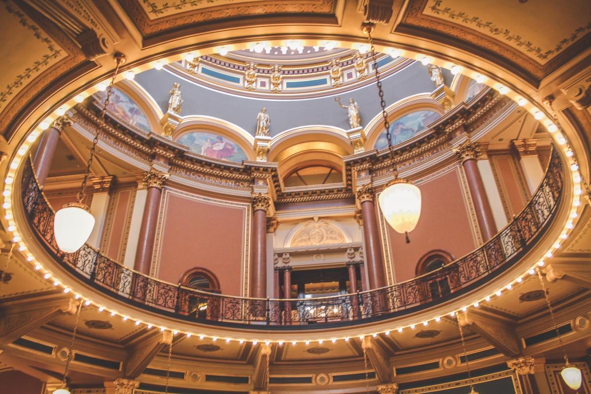 Gorgeous capitol building in Des Moines