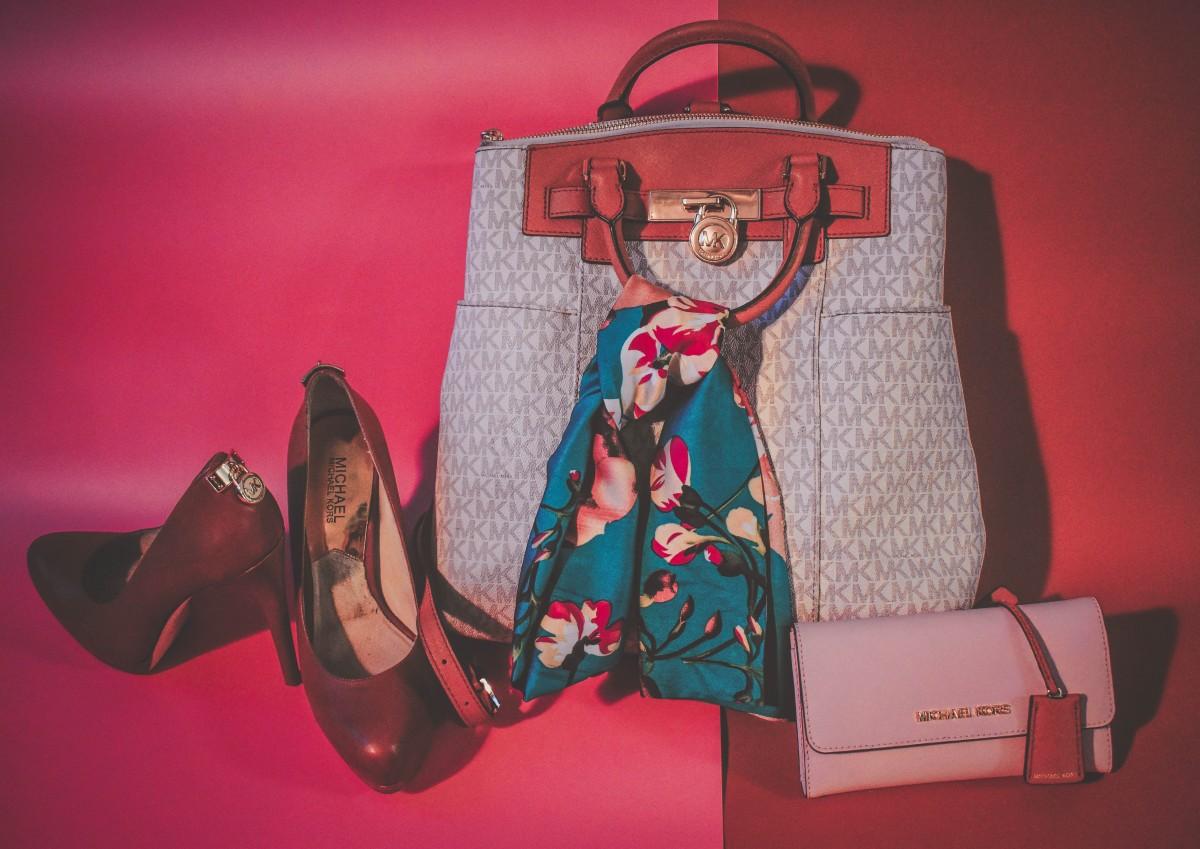 purses against backdrop
