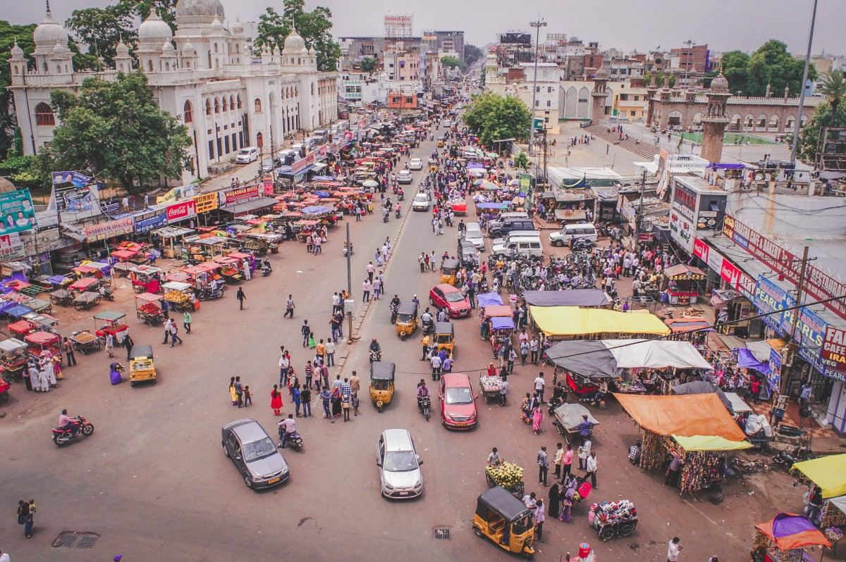 Charminar Market from above