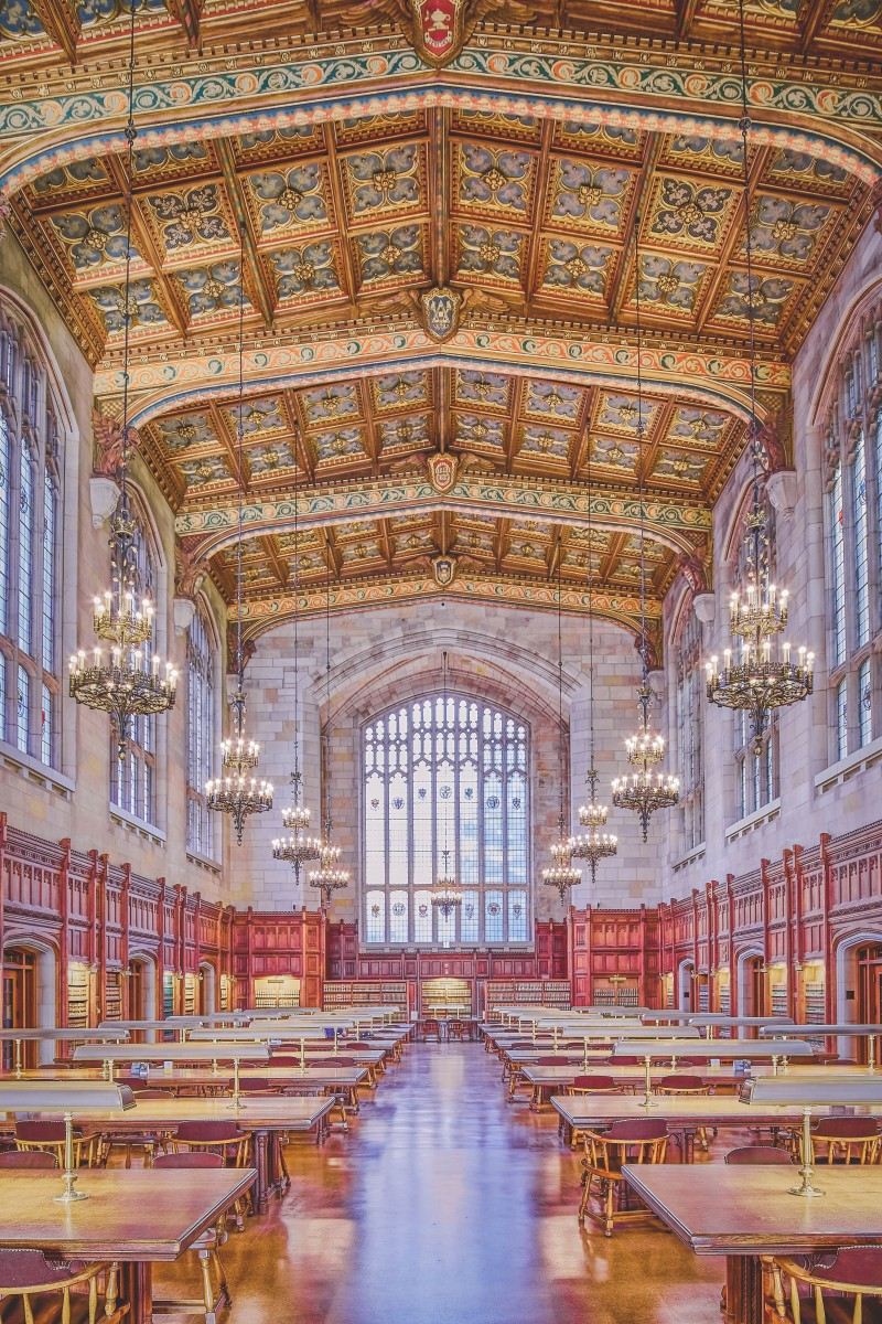 most beautiful libraries in the US: inside of University of Michigan Library