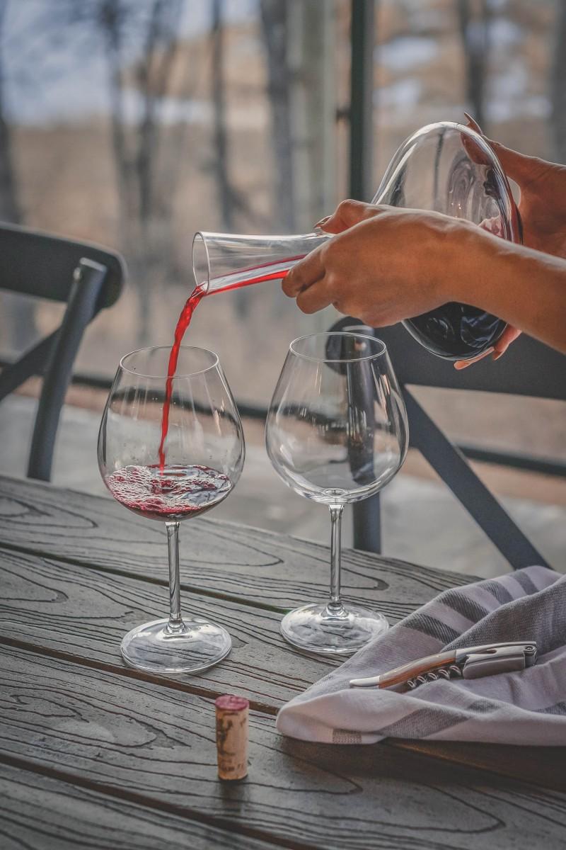 Wineries in New York Stock photo three