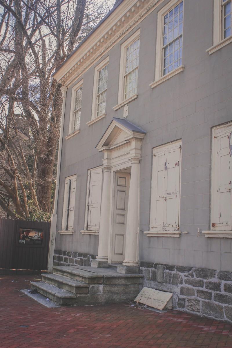 building (once residence of George Washington) in historic Germantown Philadelphia
