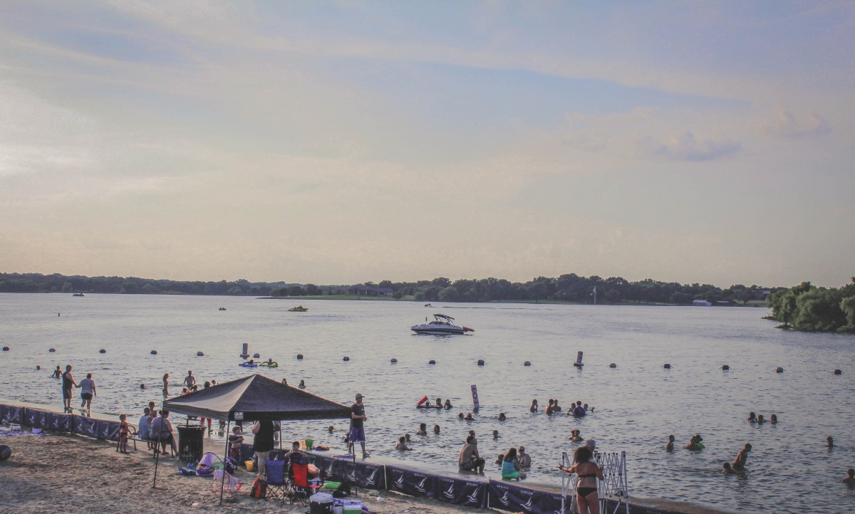 Little Elm lakeside beaches in Texas