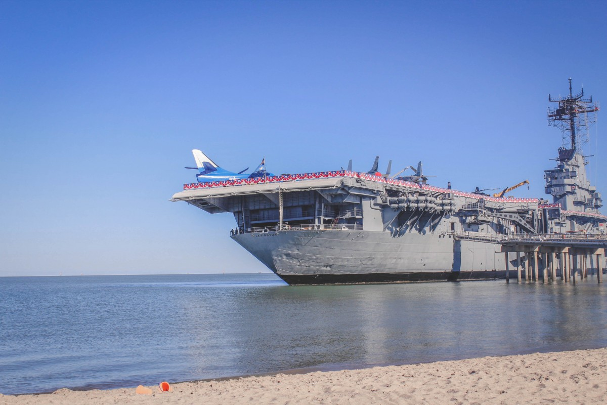USS Lexington in North Beach