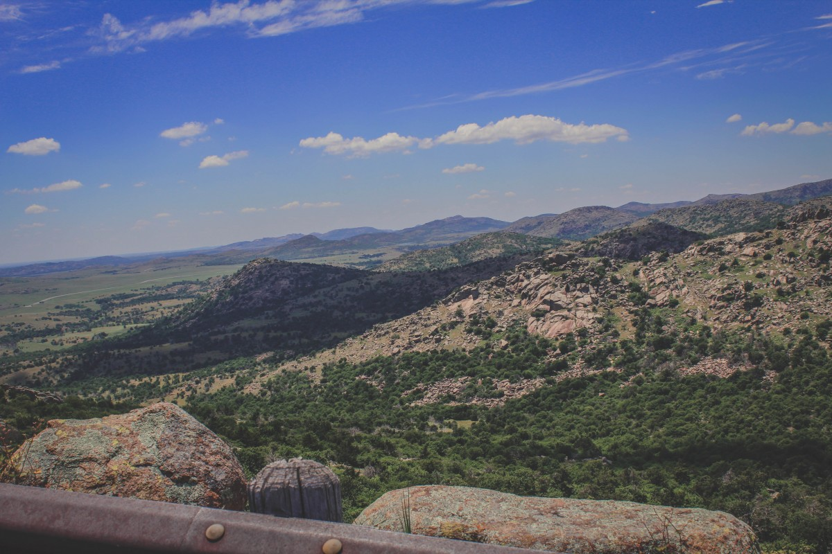Wichita Mountains Wildlife Refuge Views From Drive