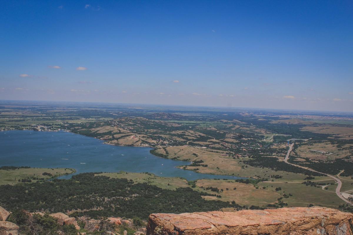 Wichita Mountains Wildlife Refuge Lake Views From Drive