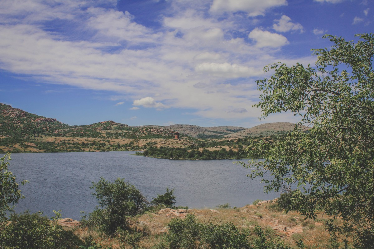Lake With Holy City Of Wichitas View