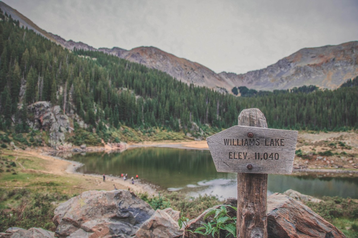 Day Trips From Albuquerque: Williams Lake Taos Ski Valley Top Of Trail Sign