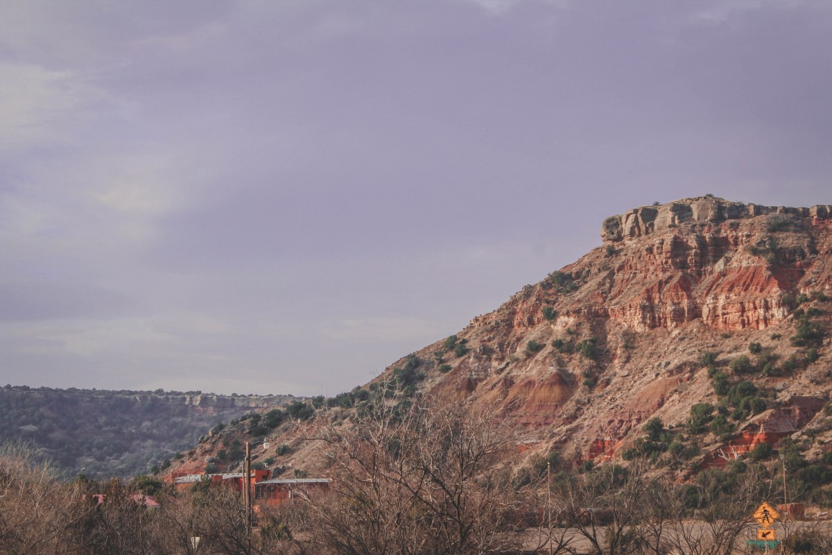lookout point in Palo Duro Canyon