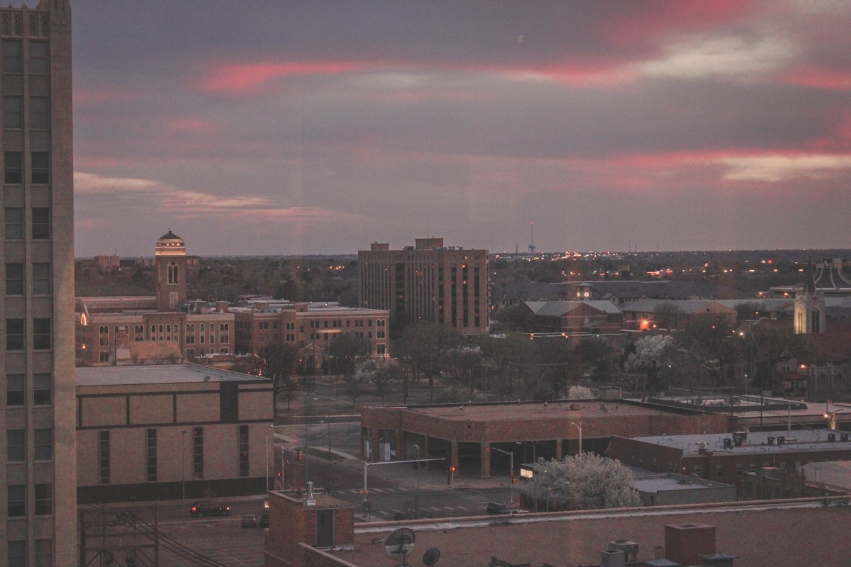 Things To Do In Amarillo, Texas: view from Fisk Medical Arts Building of downtown Amarillo