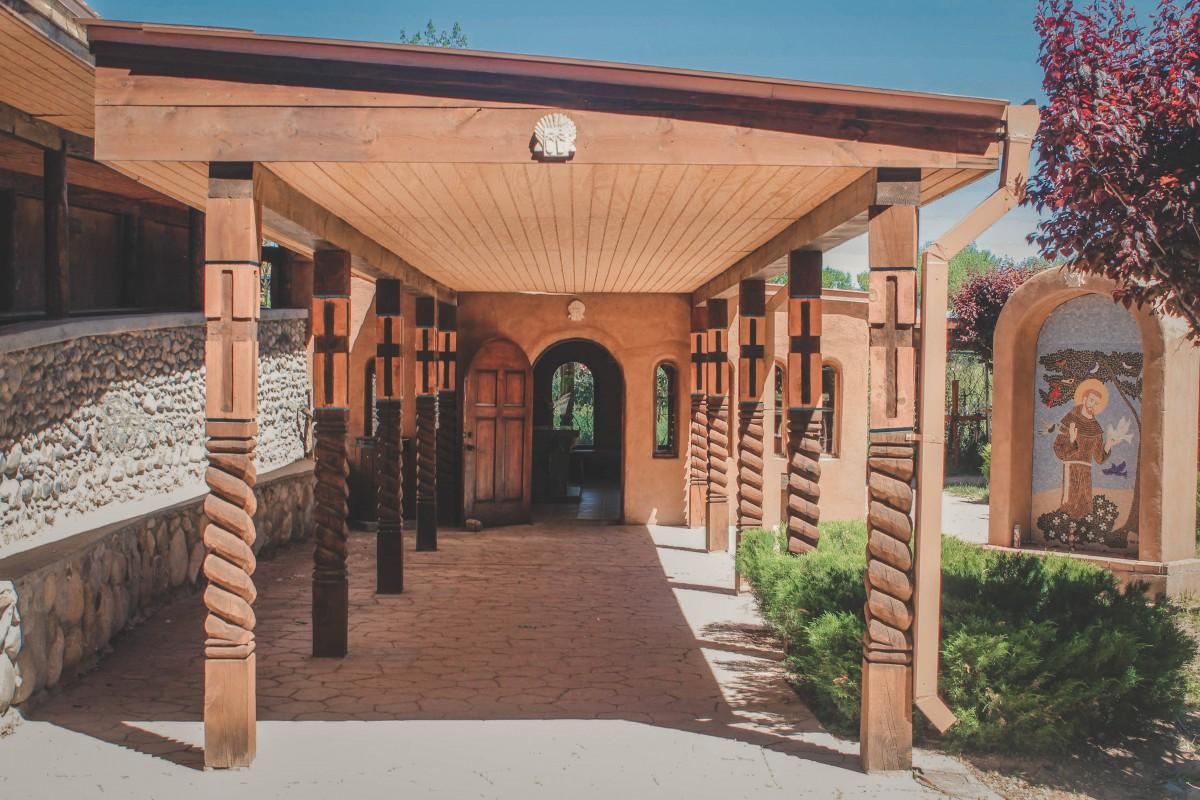 El Santuario De Chimayó Church welcome area.center