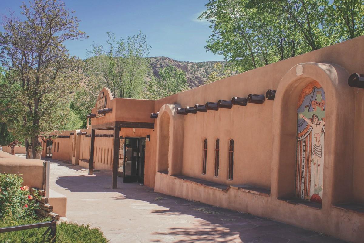 wall next to church Chimayo, New Mexico