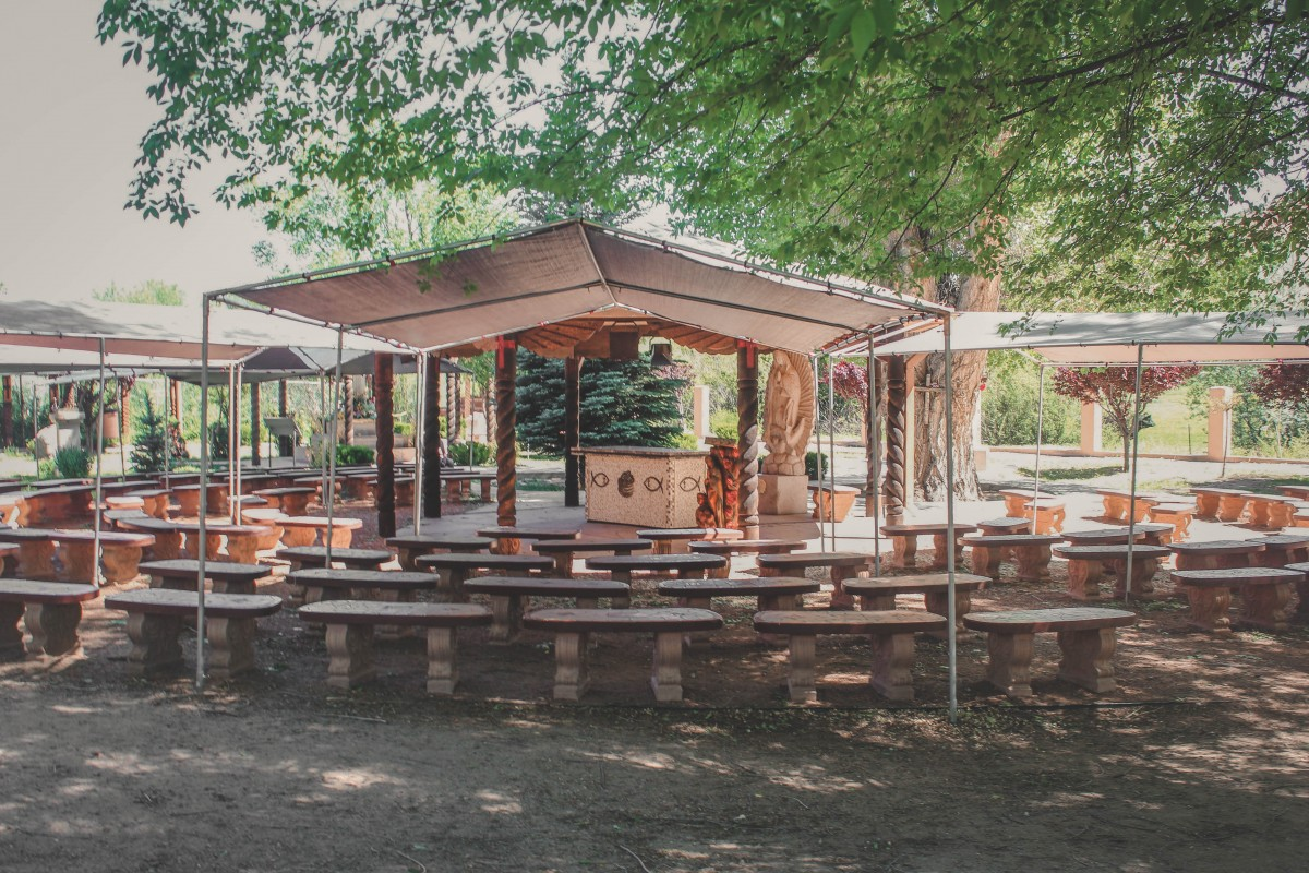 prayer area in Chimayo, New Mexico