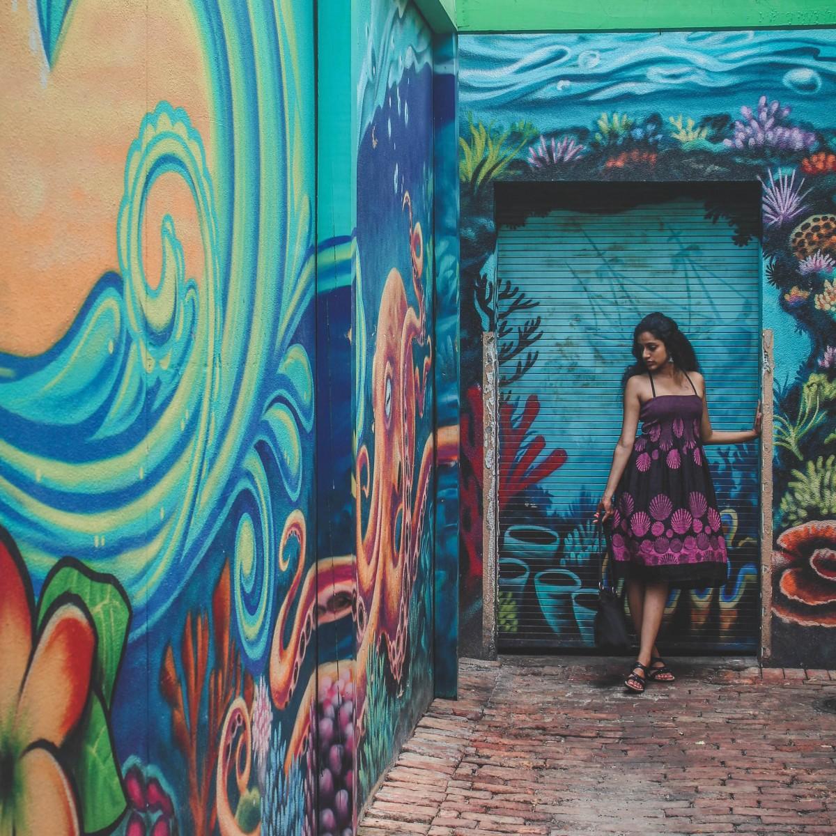 Street art mural in Clearwater Beach