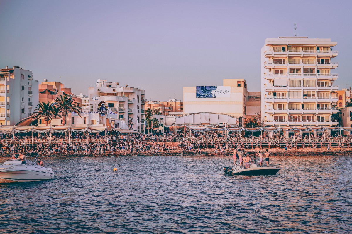 Party cities - Ibiza, Spain beach party