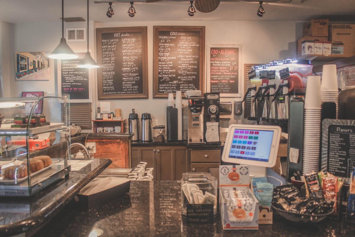 Coffee Shops In St. Augustine: inside menu of St. Augustine coffee hosue