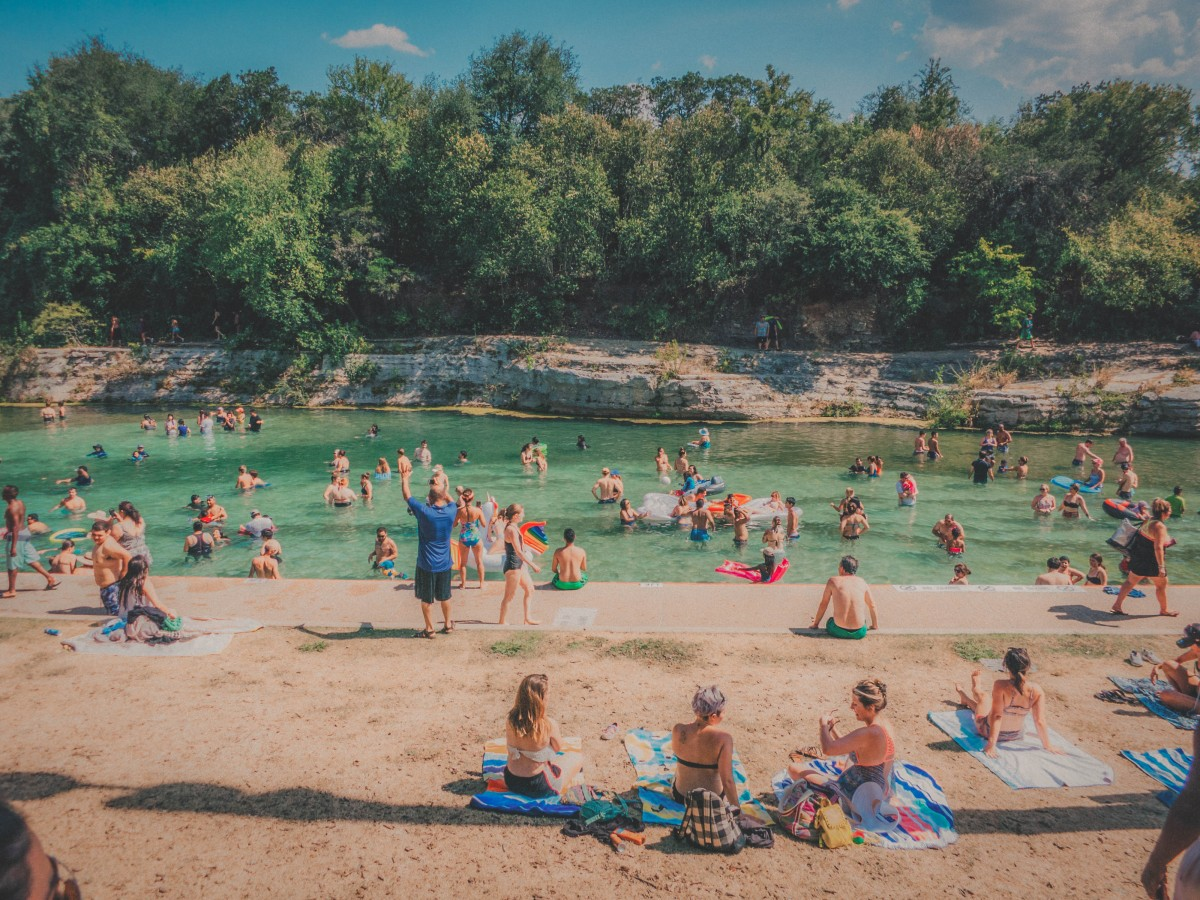 Barton Springs pool party in Austin, Texas
