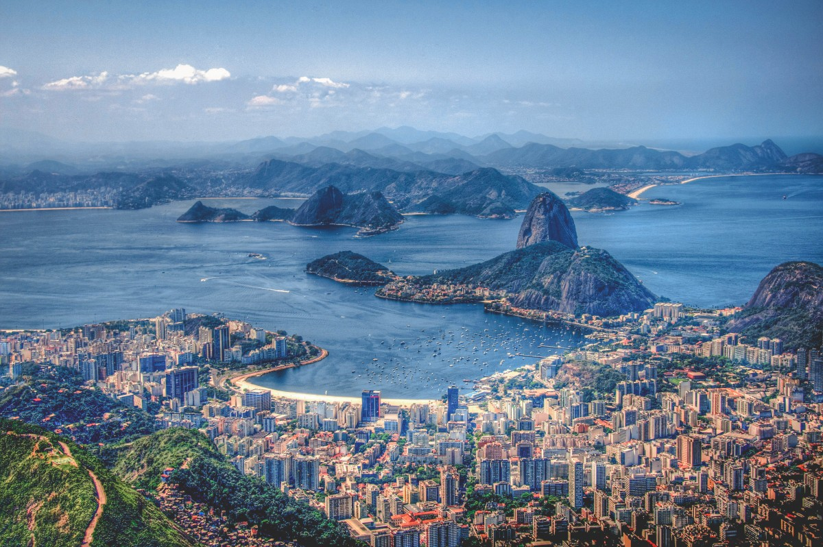 Party cities - Rio De Janeiro, Brazil coast and city