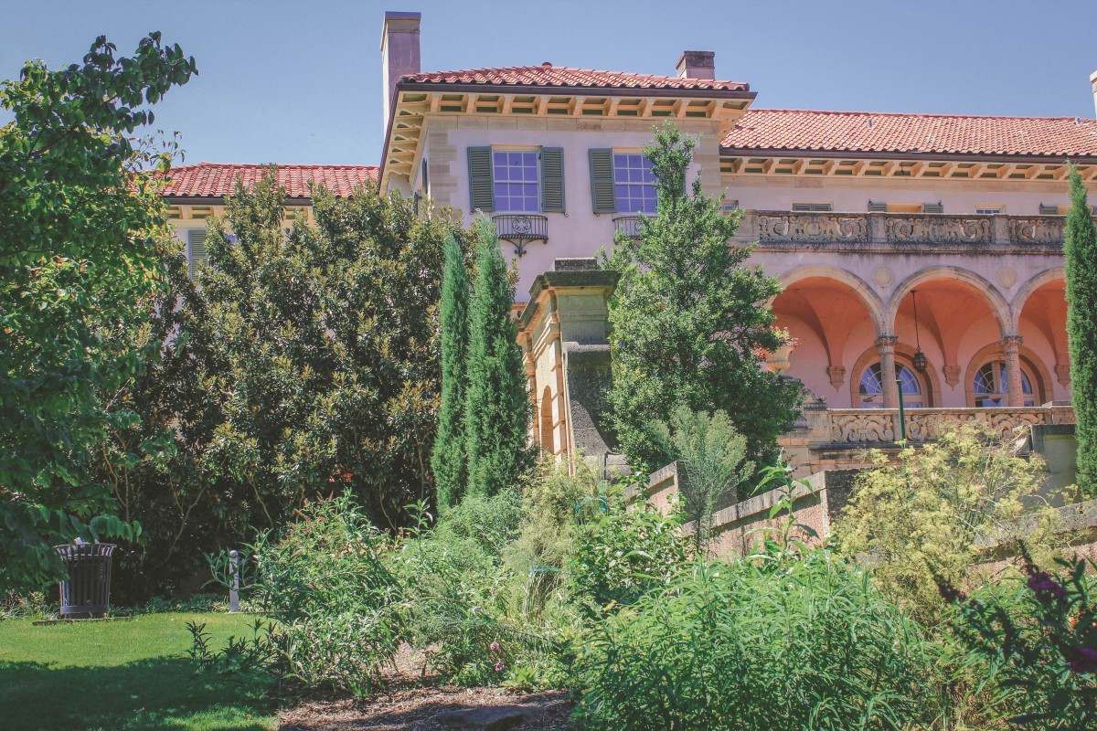 Philbrook Museum Of Art angle of gardens and house