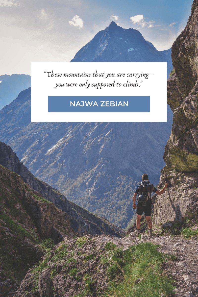 Hiking Quotes by Najwa Zebian