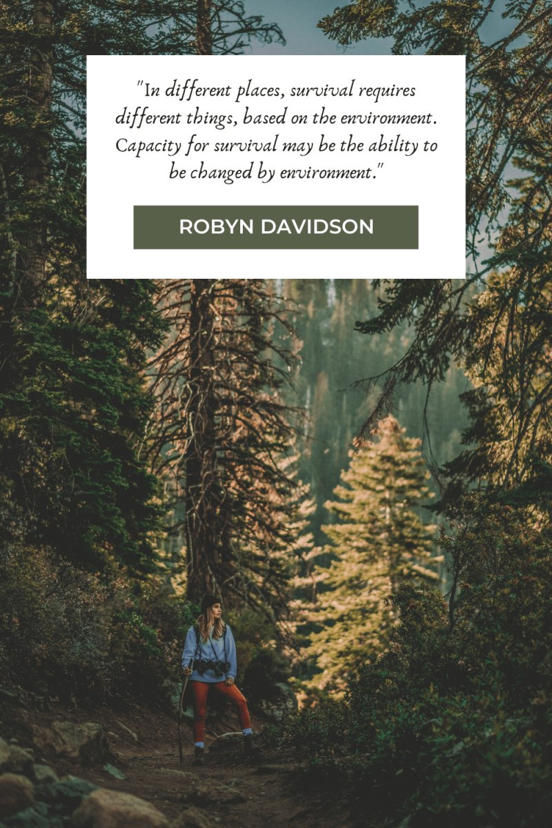 Hiking Quotes by Robyn Davidson