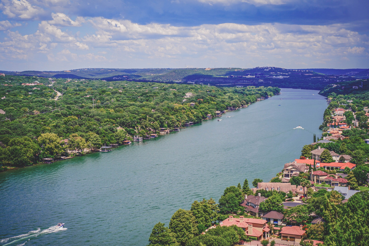 Climbing Mount Bonnell and seeing these sweeping views is one of the best things to do in Austin
