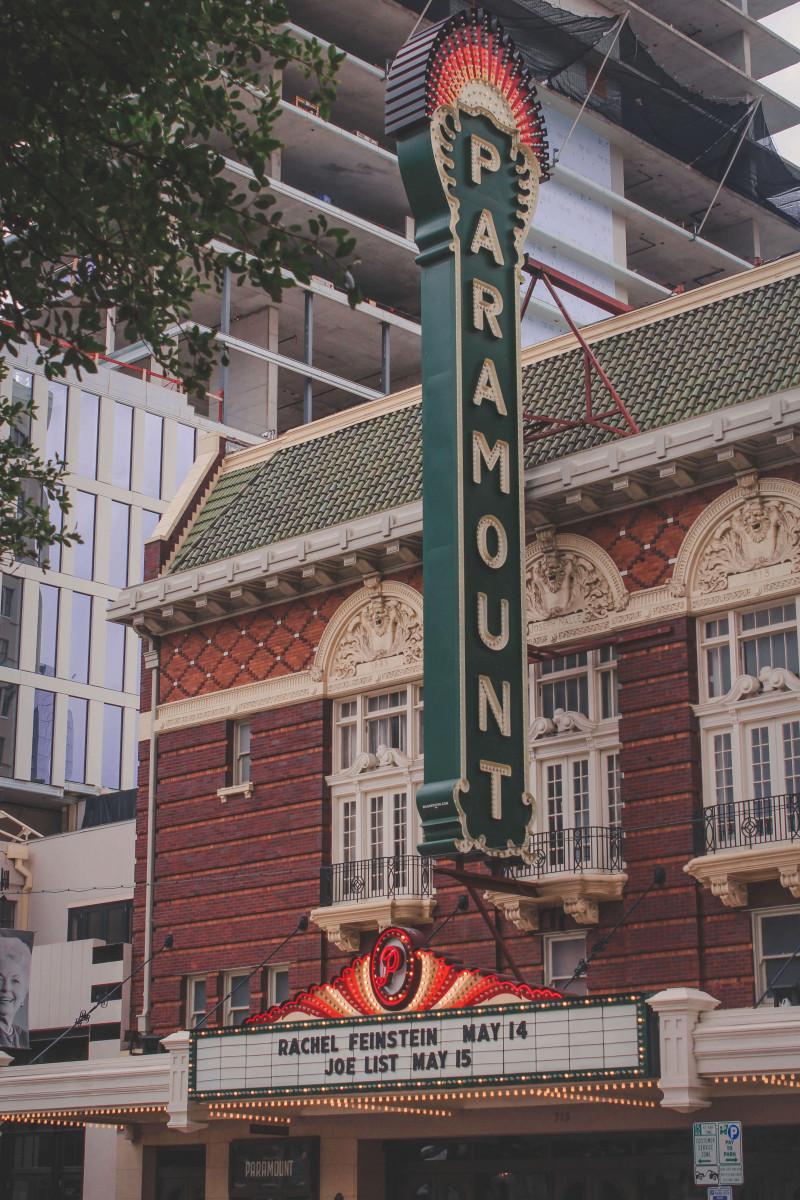 historic Paramount sign in Austin, Texas