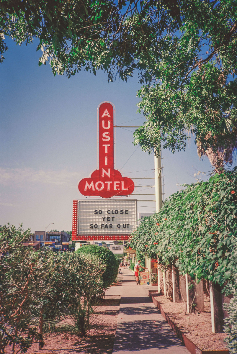 iconic Austin motel sign in South Congress