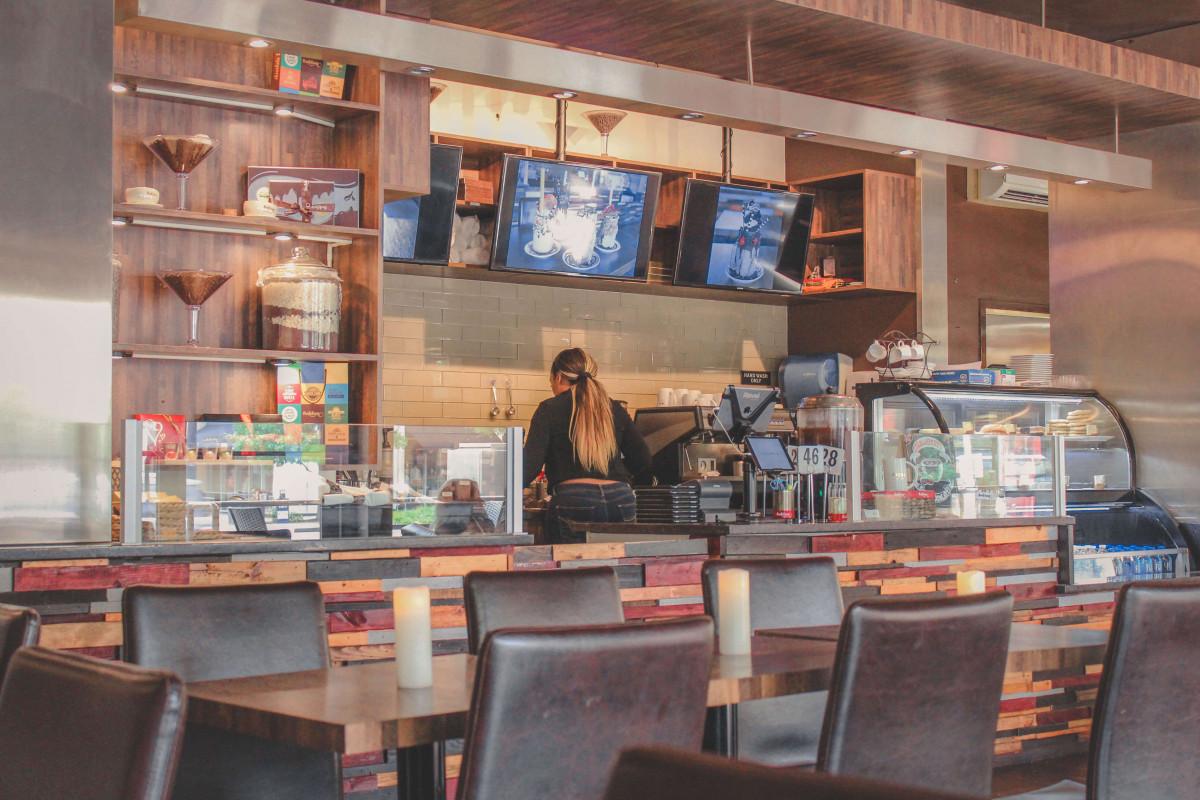 interior of Sablon Chocolate, one of the best dessert restaurants in Uptown Dallas