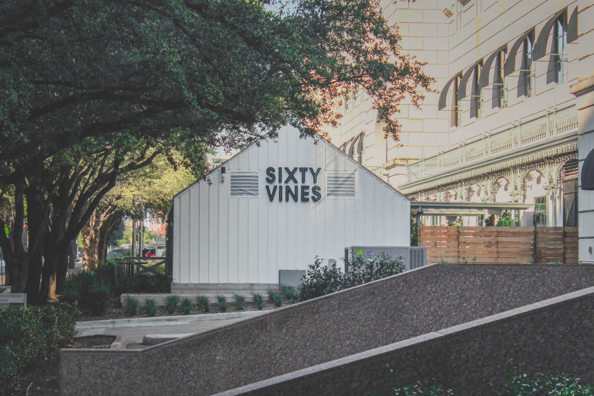 Restaurants in Uptown Dallas include Sixty Vines located next to the Crescent Hotel