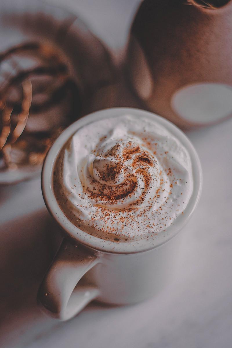 Pumpkin spice latte with pumpkin seed milk