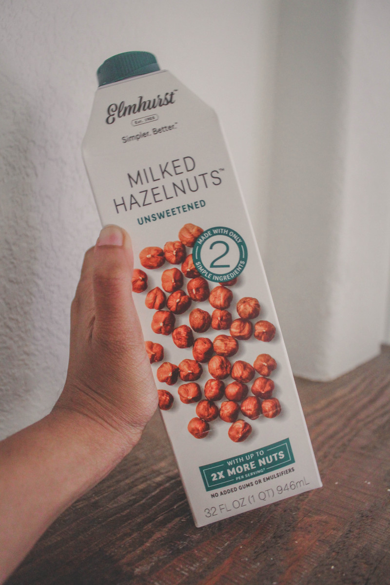 Milked Hazelnuts by Elmhurst, simple ingredient vegan milks