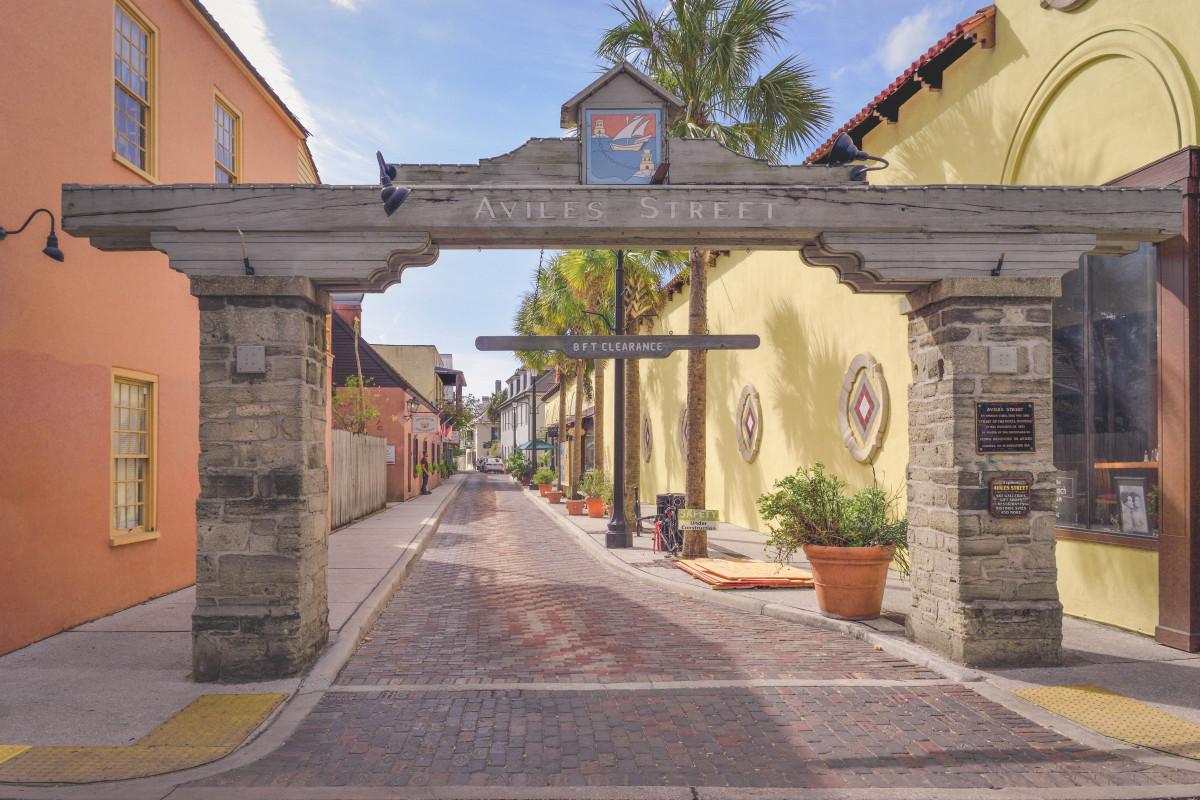 Aviles Street is postcard pretty