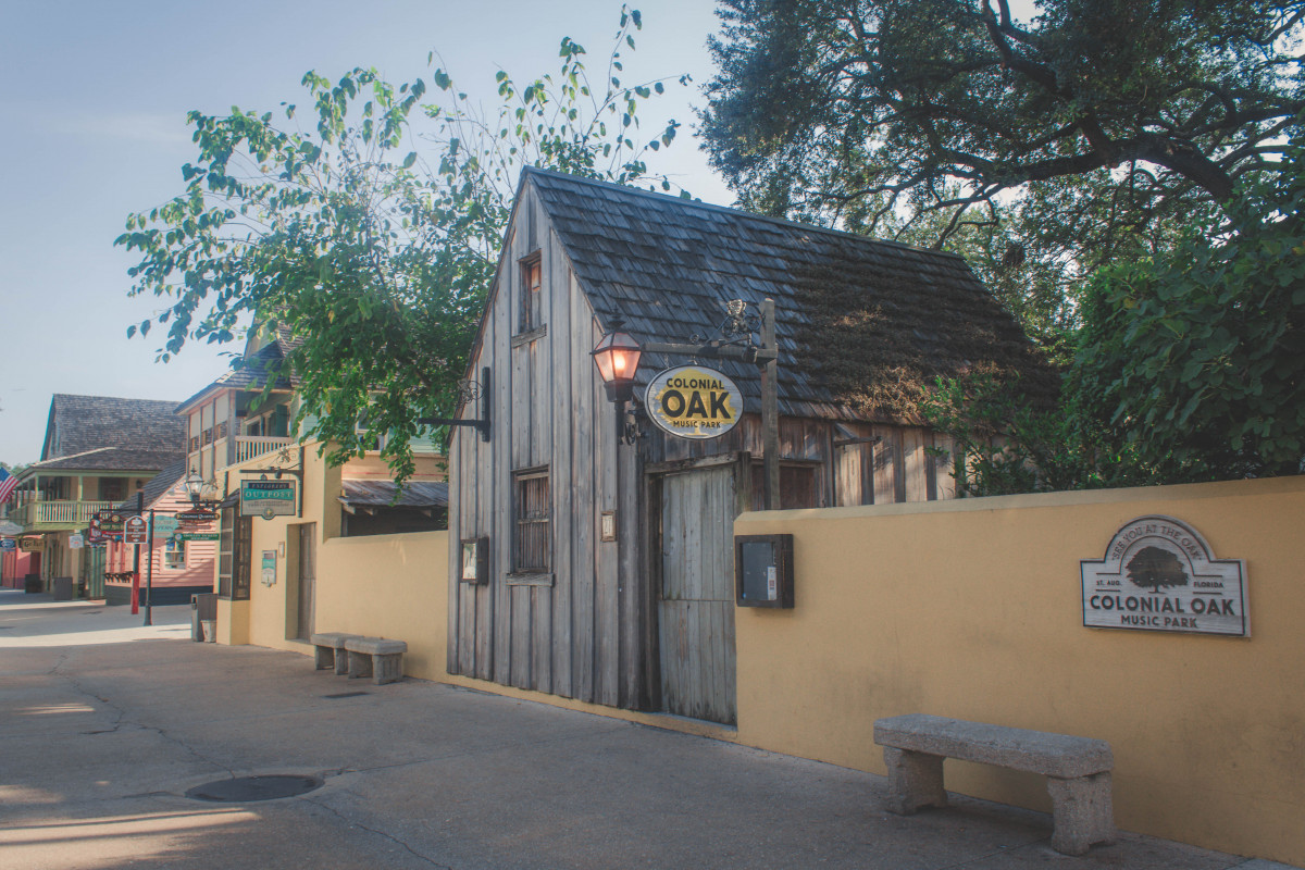 things to do in St. Augustine: Colonial Oak Music Park