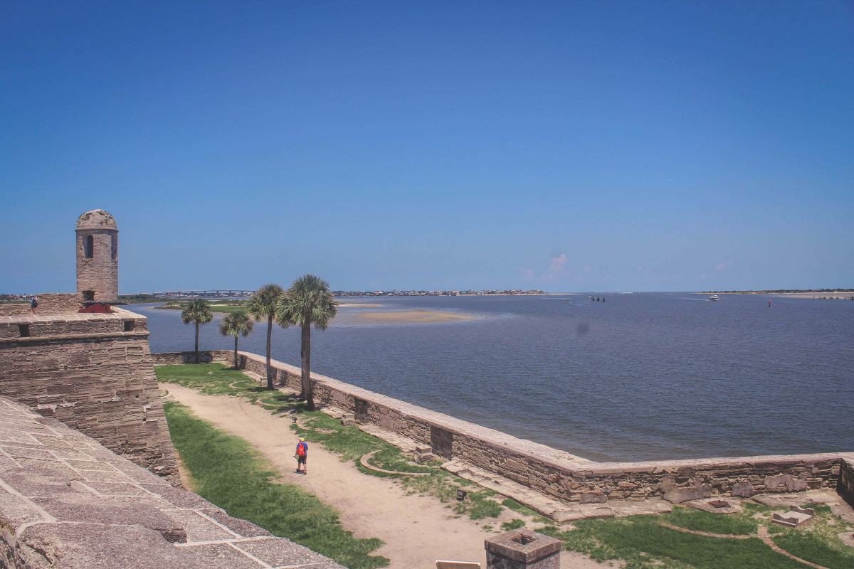 waterfront can be viewed from Castillo De San Marcos