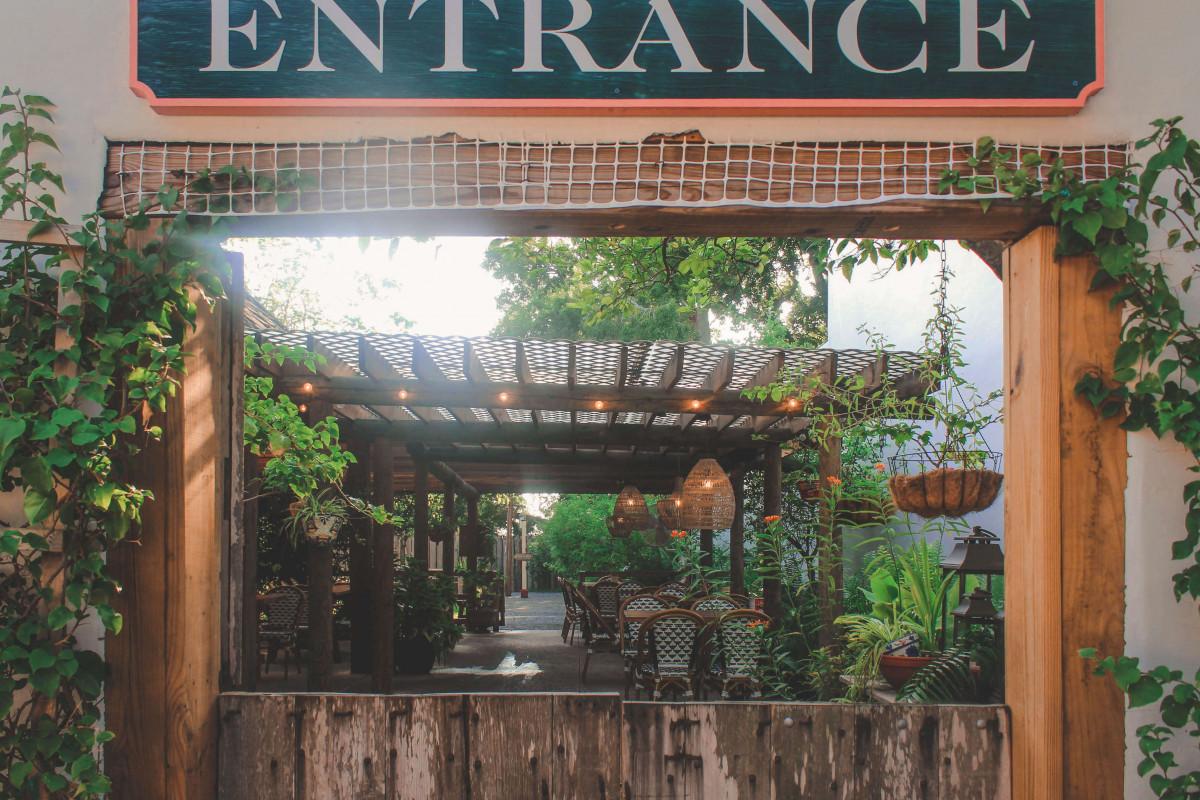 restaurant patio in St. Augustine, Florida