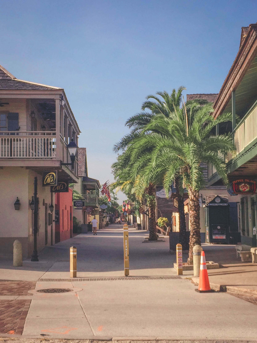 shopping district in St. Augustine, Florida