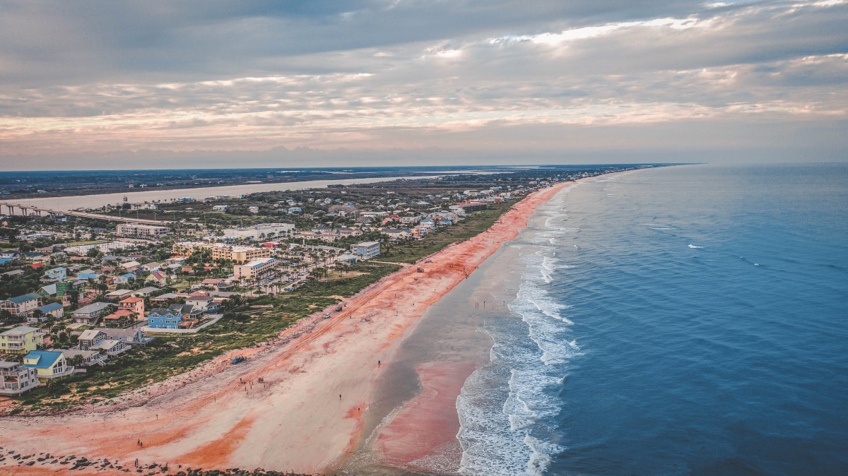 Vilano Beach by drone in St. Augustine, Florida